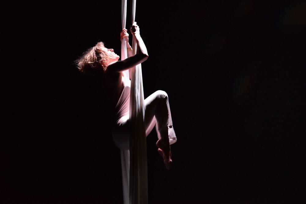 La compagnie des Drapés aériens a ensuite pris possession de la scène pour un intermède vertigineux et spectaculaire. Compagnie de cirque contemporain et danse aérienne, la Compagnie des Drapés aériens vise à promouvoir les disciplines aériennes par la diffusion de spectacle et la formation amateurs et professionnelles.